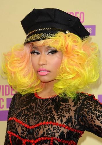 Nicki Minaj yellow and pink hair