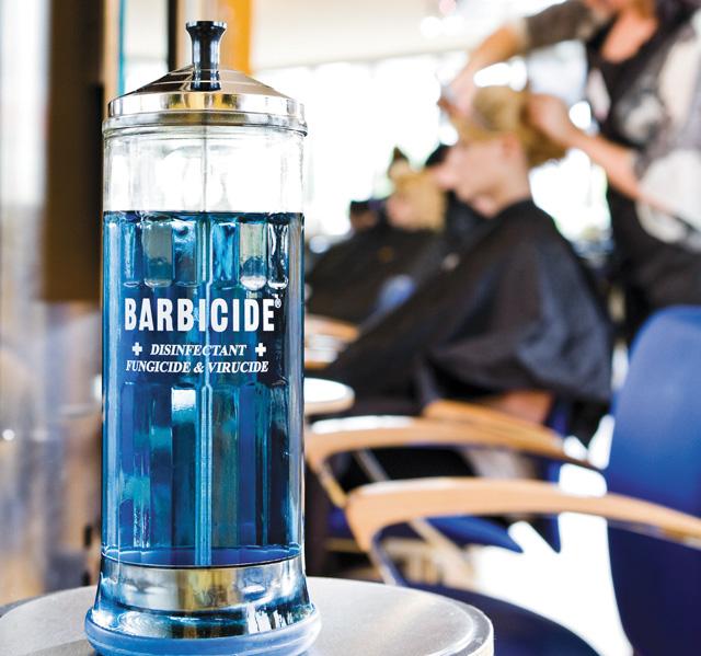 Salon hygeine Barbicide