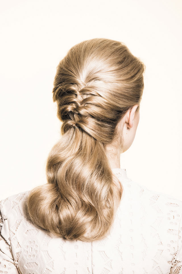 Get the Look: Layered Ponytail Updo